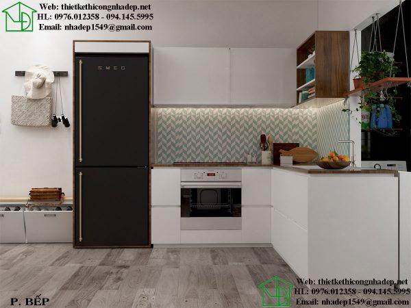 Thiết kế chung cư nhỏ với phòng bếp tiện nghi đẳng cấp