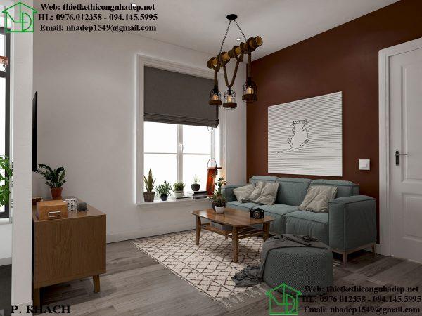 Thiết kế chung cư nhỏ với phòng khách sang trọng hiện đại