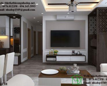 Mẫu thiết kế chung cư đẹp với phòng khách sang trọng đẳng cấp châu Âu