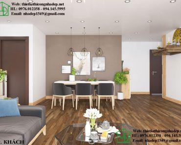 Thiết kế nội thất chung cư nhỏ với phòng khách trang nhã hiện đại