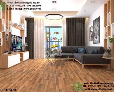Thiết kế nội thất căn hộ phòng khách tinh tế và hiện đại