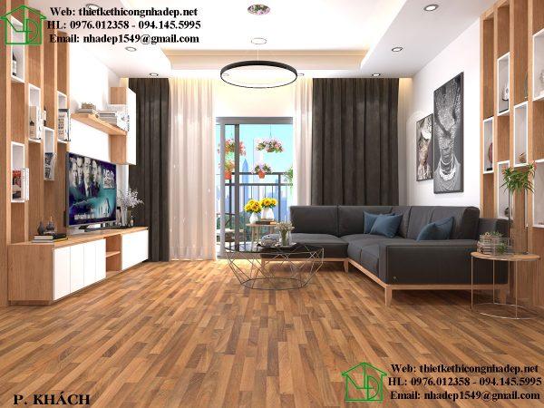 Thiết kế phòng khách đẹp NDNTCC25