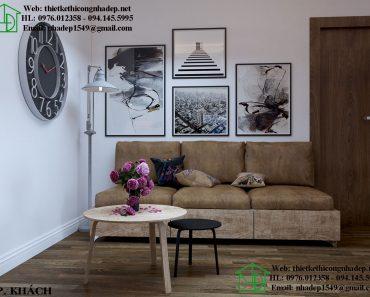 Thiết kế chung cư hiện đại với phòng khách nhỏ gọn xinh xắn