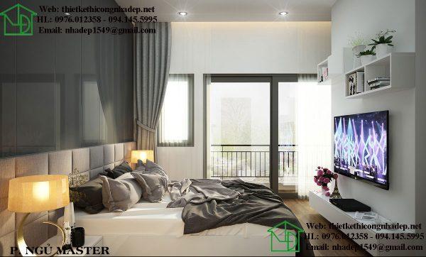 Mẫu căn hộ chung cư đẹp với phòng ngủ thư giãn và thoải mái