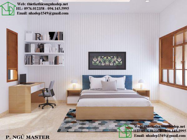 Thiết kế phòng ngủ nội thất chung cư 60m2 thoáng đãng và thoải mái