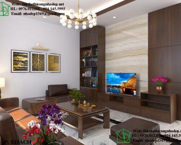 Mẫu nội thất chung cư đẹp Gamuda với chất liệu gỗ sồi