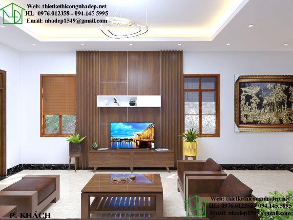 Thiết kế phòng khách nội thất chung cư 60m2 sang trọng và bề thế