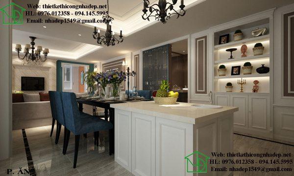Thiết kế phòng ăn Royal City với phong cách nội thất Luxury