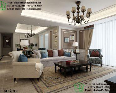 Thiết kế phòng khách Royal City với phong cách nội thất Luxury