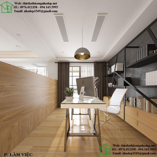 Phòng làm việc hiện đại trong thiết kế nội thất chung cư tại Hà Nội