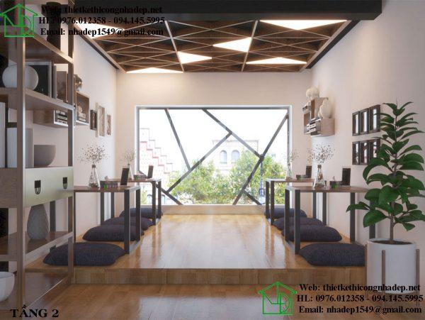 Thiết kế quán cafe với tầm nhìn rộng
