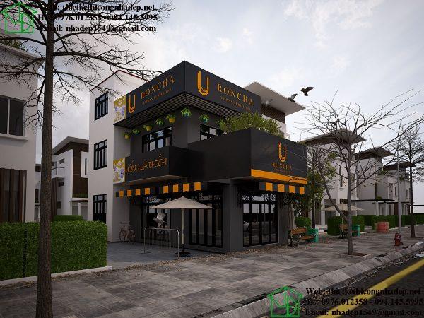 Thiết kế quán trà sữa Roncha NDCF10