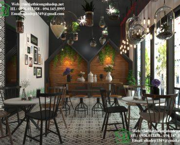 Thiết kế quán trà sữa Roncha đầy sáng tạo với giàn cây trồng trong lọ thủy tinh