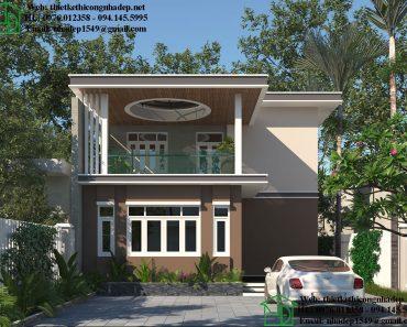 Biệt thự 2 tầng mái bằng NDBT2T48