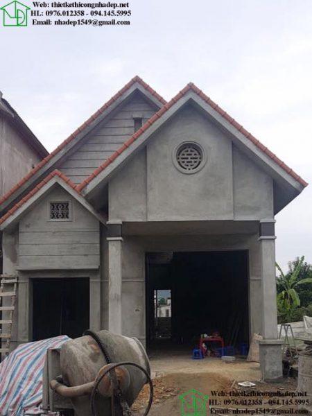 Hình ảnh xây thô nhà cấp 4 7x10m NDNC467