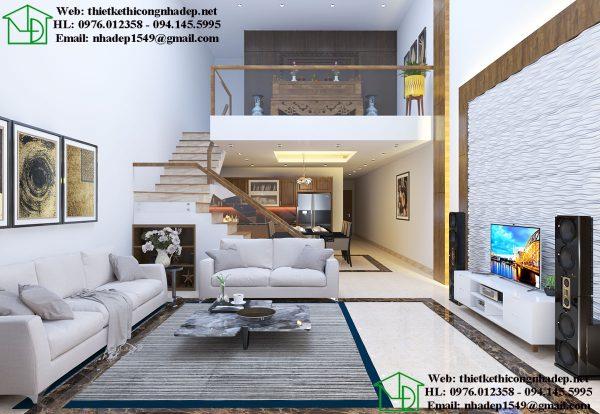 Thiết kế nội thất nhà cấp 4 gác lửng NDNC465