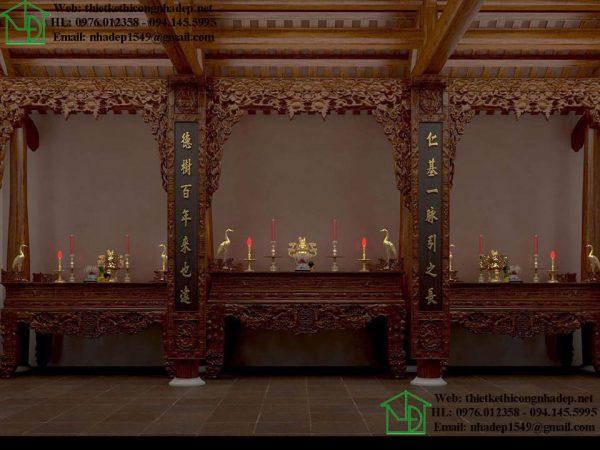 Thiết kế nội thất nhà thờ họ NDNTH16