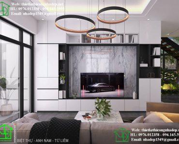 Thiết kế nội thất phòng khách biệt thự sang trọng và đẳng cấp