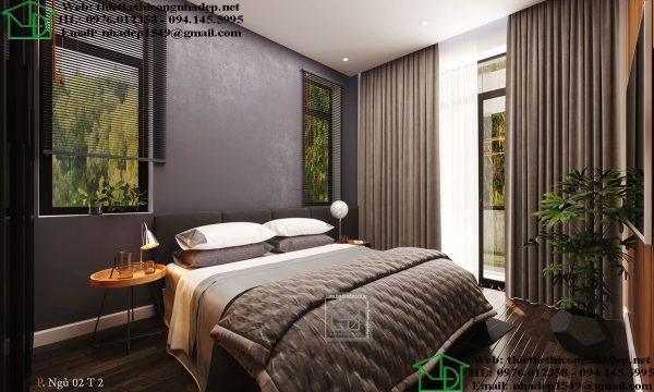 Thiết kế nội thất phòng ngủ đẹp NDNTPK7