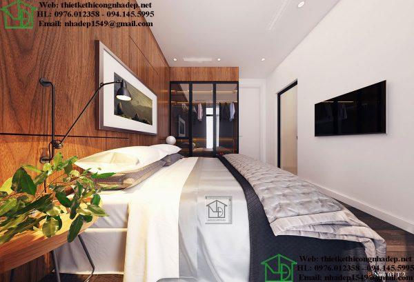 Thiết kế nội thất phòng ngủ hiện đại NDNTPK7