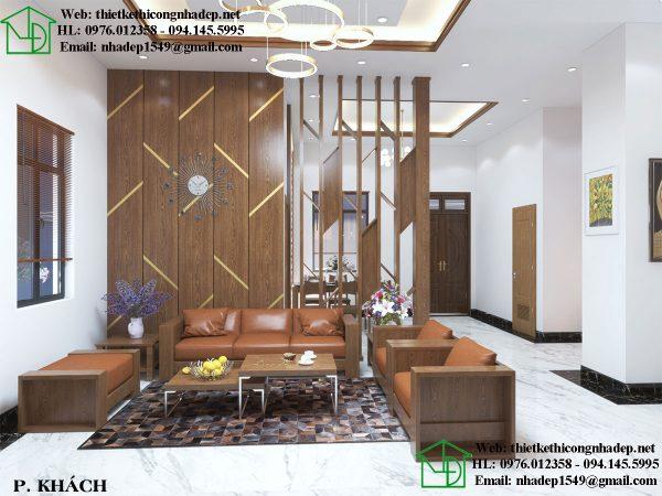Mẫu nội thất căn hộ chung cư cao cấp với phòng khách sang trọng