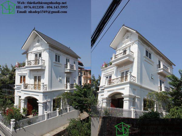 Biệt thự 3 tầng tân cổ điển tại Thanh Oai NDBT3T3