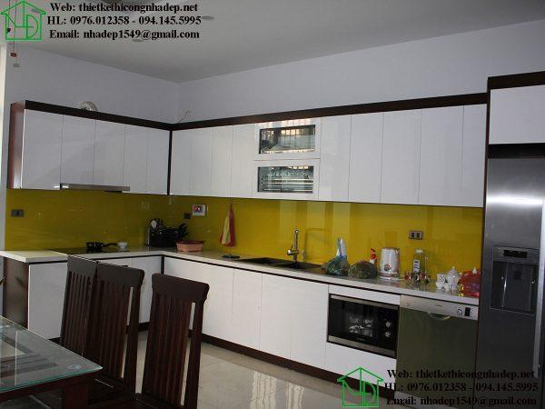 Nội thất phòng bếp nhà phố 4 tầng NDNP4T7
