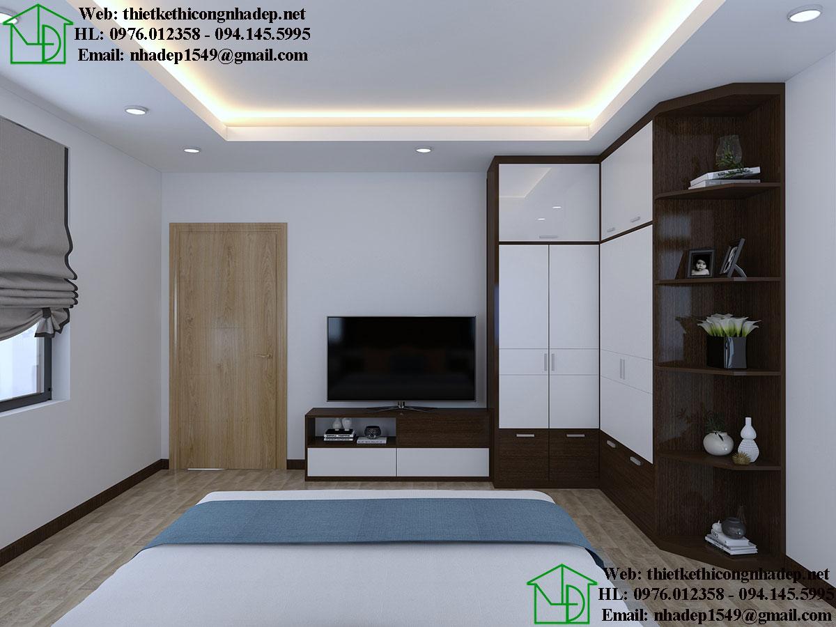 Nội thất phòng ngủ con biệt thự đẹp NDNTBT1