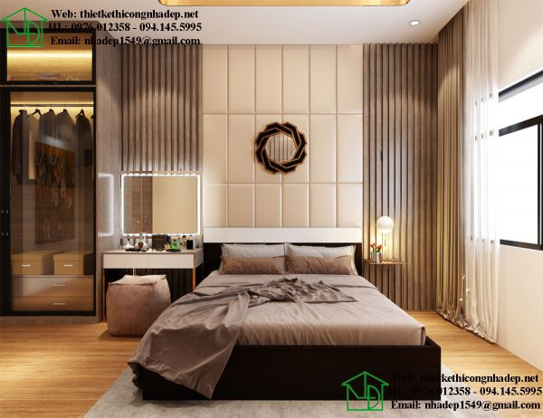 Phòng ngủ master chung cư đẹp NDNTCC36