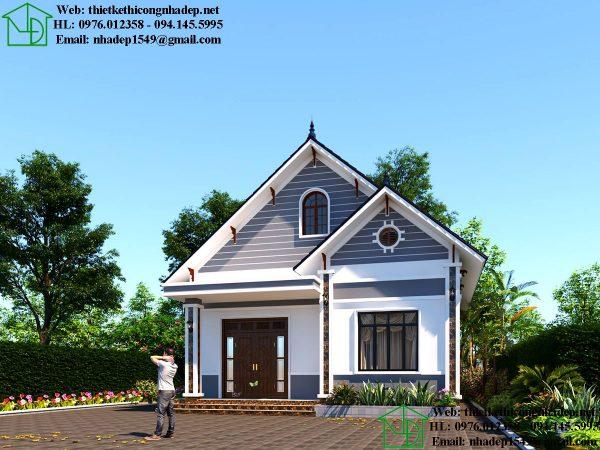 Thiết kế nhà cấp 4 nông thôn NDNC468