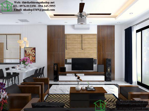 Thiết kế nội thất biệt thự 3 tầng NDNTBT1