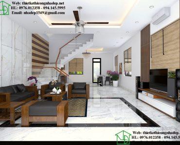 Thiết kế nội thất phòng khách biệt thự NDNTBT1