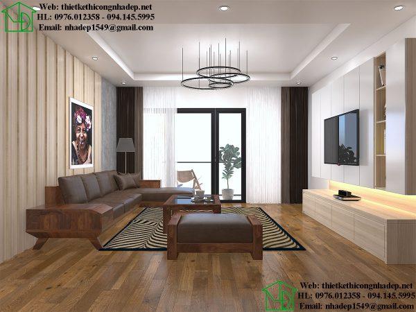 Thiết kế nội thất phòng khách đẹp NDNTCC36