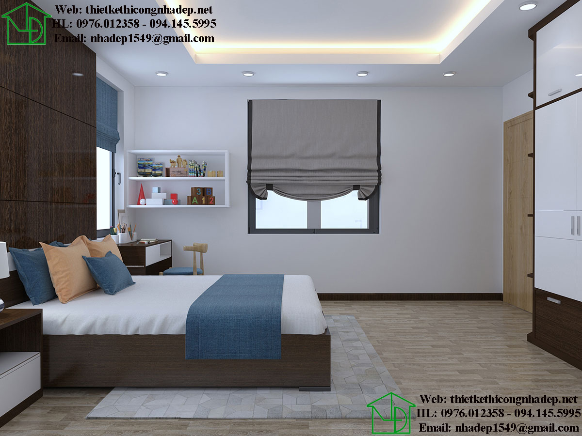 Thiết kế nội thất phòng ngủ con NDNTBT1