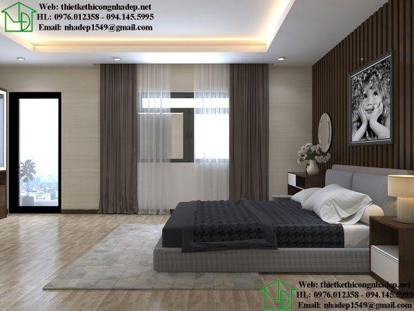 Thiết kế nội thất phòng ngủ đẹp NDNTBT1