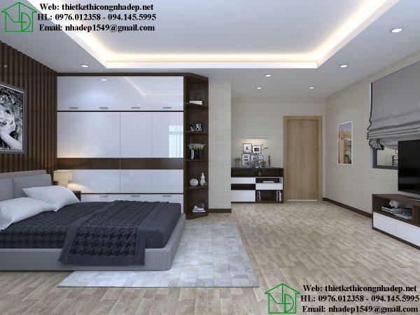 Thiết kế nội thất phòng ngủ master NDNTBT1