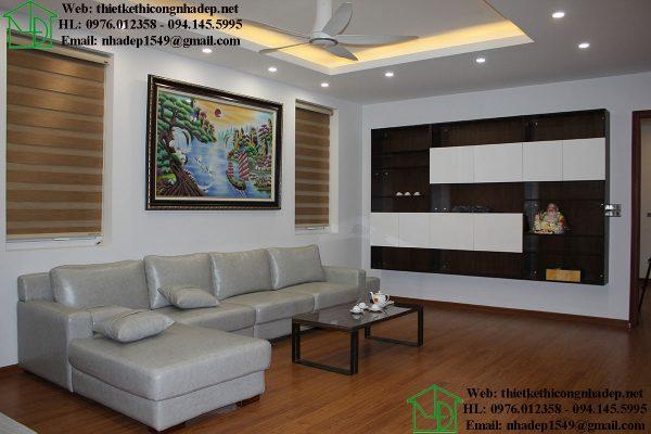 Thiết kế nội thất phòng sinh hoạt chung NDNP4T7