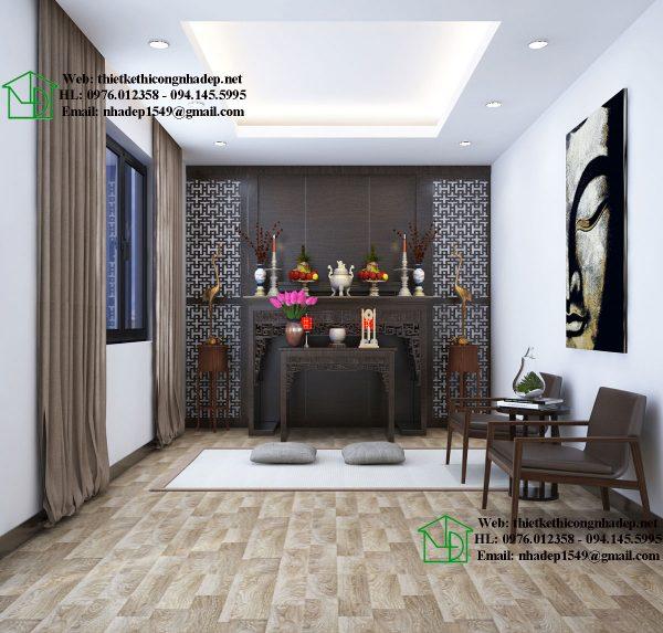 Thiết kế thi công nội thất phòng thờ NDNTBT1