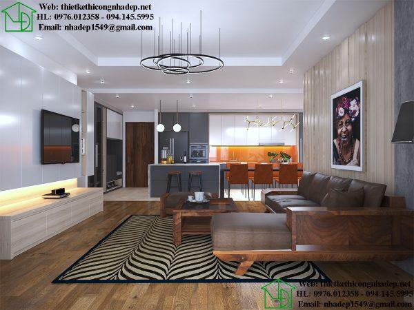 Thiết kế thi công nội thất chung cư NDNTCC36