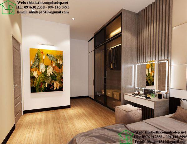 Thiết kế thi công nội thất chung cư giá rẻ NDNTCC36