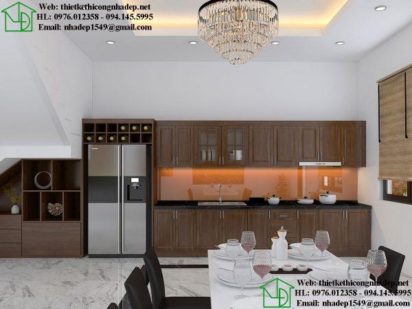 Thiết kế tủ bếp hiện đại NDNTBT1