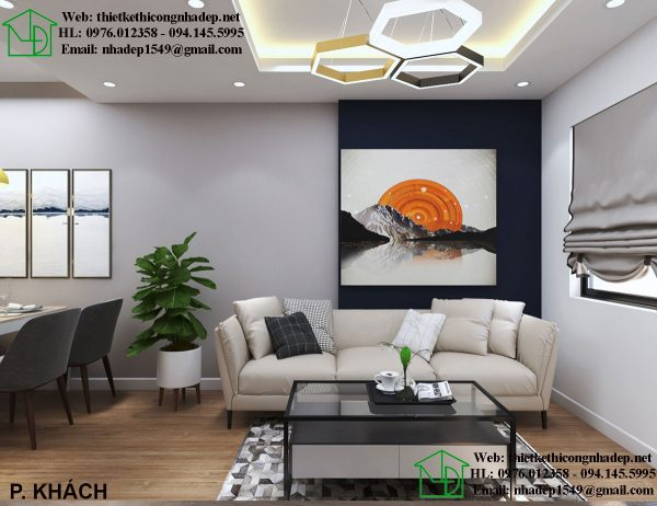 Bàn ghế sofa chung cư hiện đại NDNTCC37