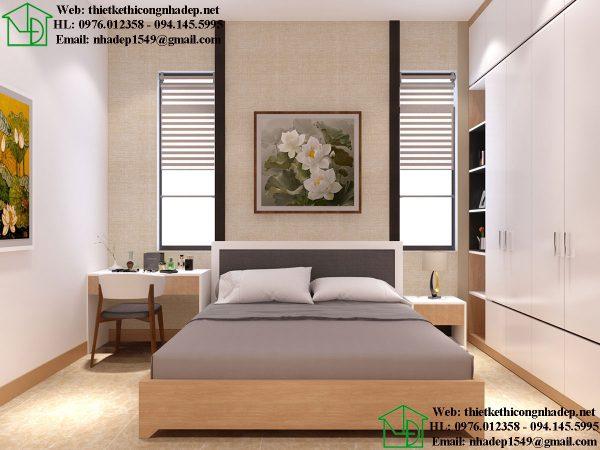 Giường và vách đầu giường phòng ngủ master NDTKNT3