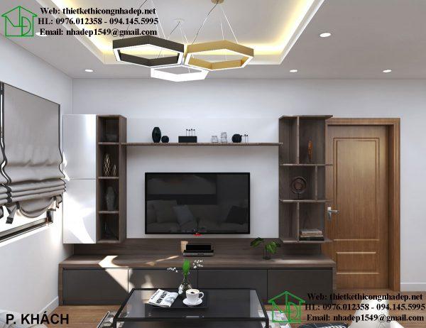 Kệ tivi phòng khách chung cư NDNTCC37