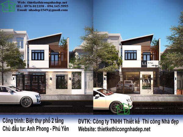Thiết kế nhà đẹp trên đất xéo NDBT2T52