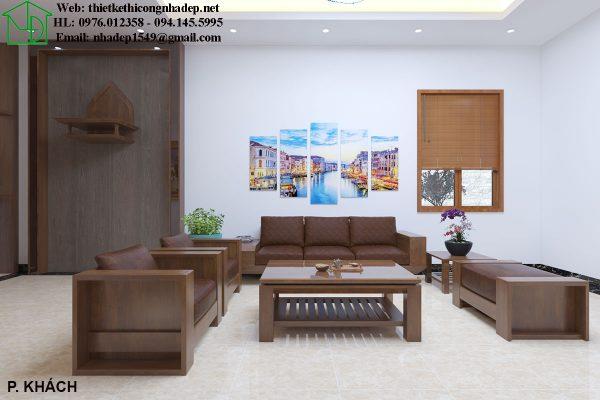 Mẫu thiết kế phòng khách giá rẻ NDNTBT2