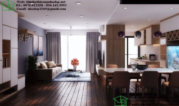 Thiết kế nội thất chung cư hiện đại NDNTCC39
