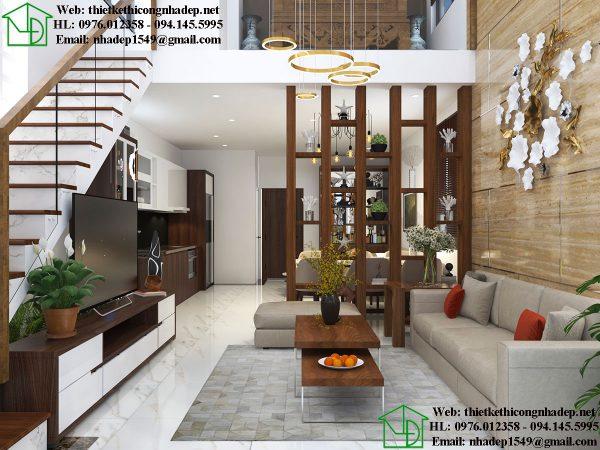 Thiết kế nội thất nhà cấp 4 gác lửng NDTKNT5
