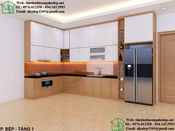 Thiết kế nội thất phòng bếp biệt thự đẹp NDNTBT2