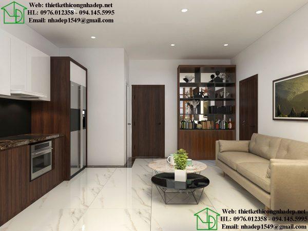 Thiết kế nội thất phòng bếp nhà cấp 4 gác lửng NDTKNT5